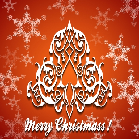 fur tree ornament: Christmas card  Christmas tree