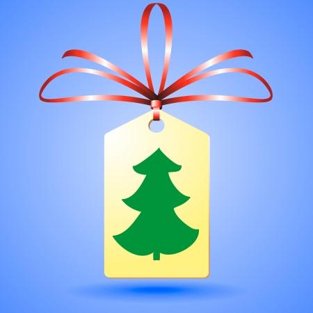 christmass: christmass �rbol en la etiqueta