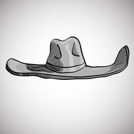 cockade: cowboy hat on white background