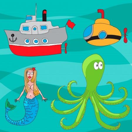 brettspiel: Piraten Brettspiel Illustration