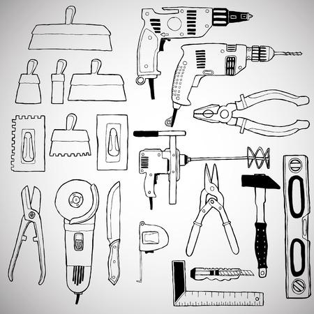 sander: building tools set Illustration