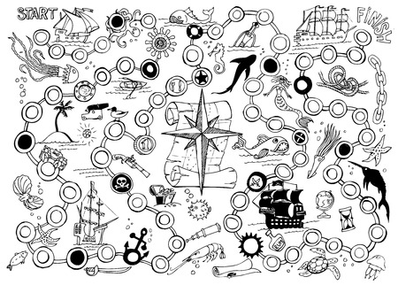 Pirate Board Game Vector