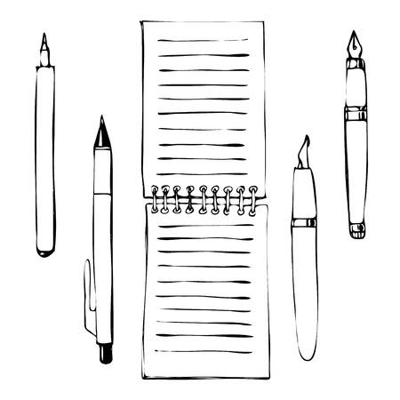 articulos oficina: Vector mano dibuja garabatos de objetos y art�culos de oficina.