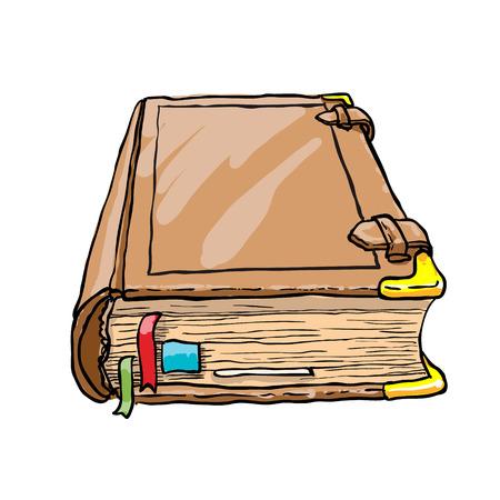 bible ouverte: Vieux livre isol� sur blanc