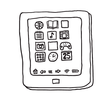 tablet pc. Drawing Vector