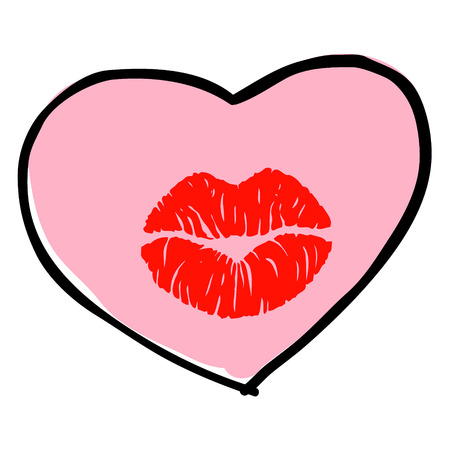vector heart symbols with love kiss for valentine design Vector