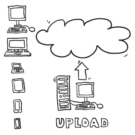 Vector sketch computing upload cloud Vector