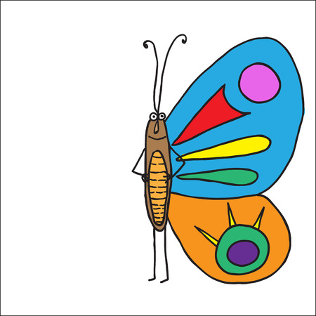 entomologist: Beautiful butterfly isolated.