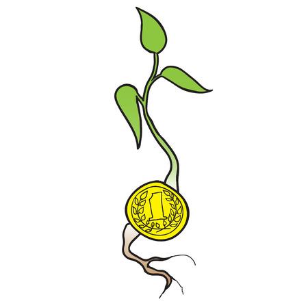 one us dollar coin: money growth.