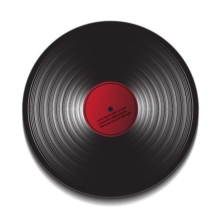 hi fi: music disc. vector illustration