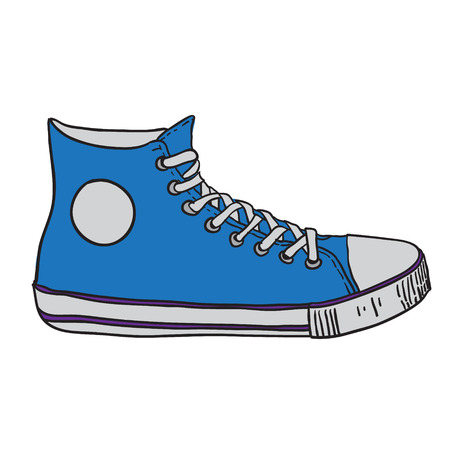 gym shoes. vector illustration Vector