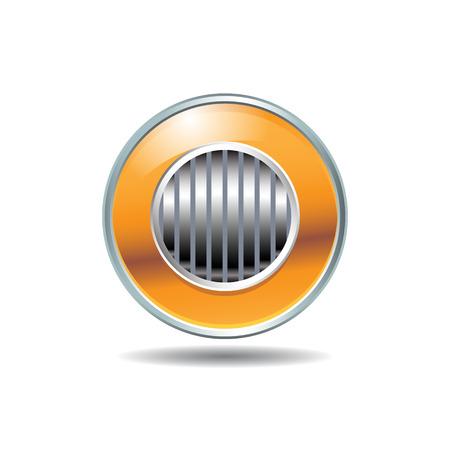 orange button.  Vector