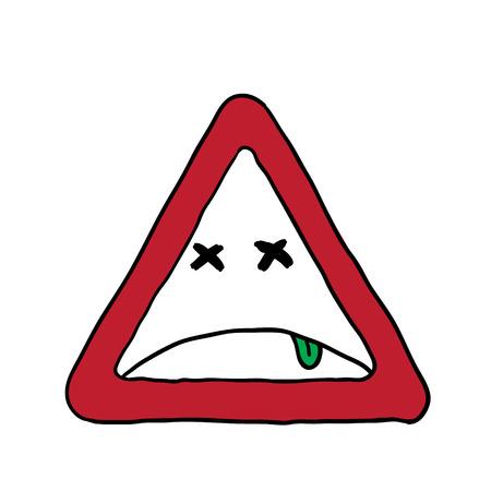 smiley face car: smile. road sign. vector illustration Illustration