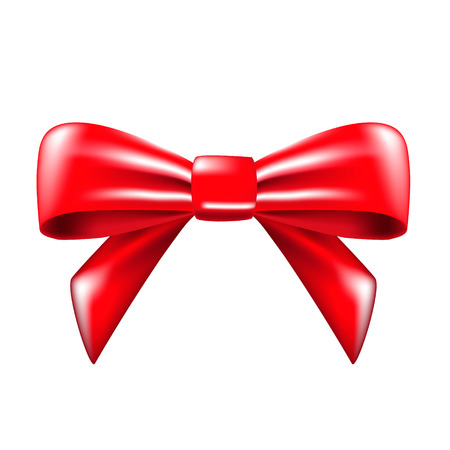 red bow ribbon. vector illustration Vector