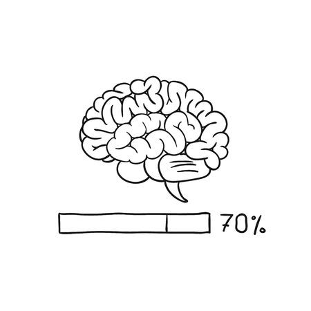 Loading bar brain. vector illustration Vector