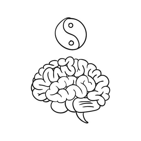 brain illustration: doodle brain wisdom illustration