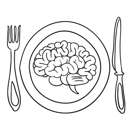 brain on a plate illustration