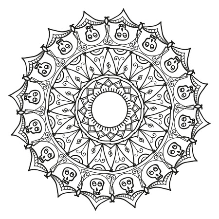 Mandala Ethnic decorative elements. Hand drawn background. Illustration