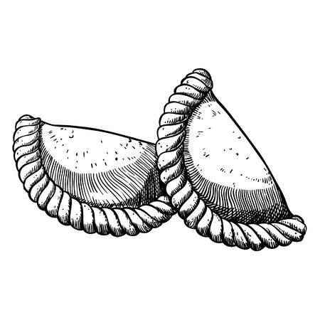 ベクトルの図。手描き食品