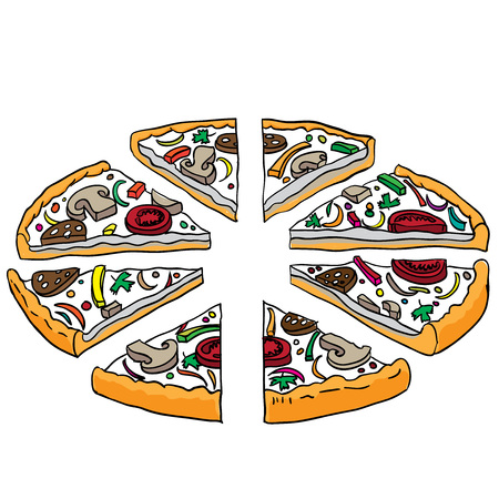 tasty: vector illustration of tasty pizza Illustration