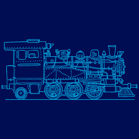 steam locomotive: Steam locomotive. Hand drawn illustration. Vector illustration