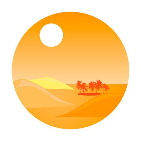 desert oasis: oasis in the desert. vector design