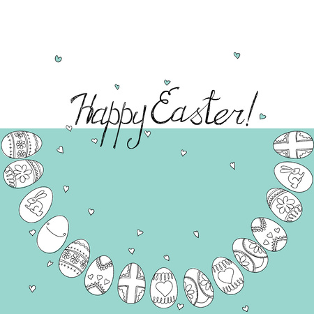 Happy Easter greeting card. Vector background