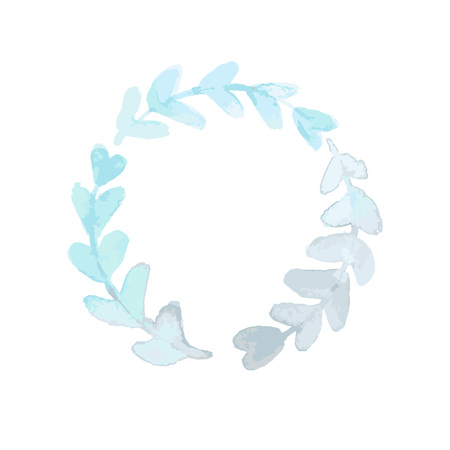 watercolor painted wreath vector