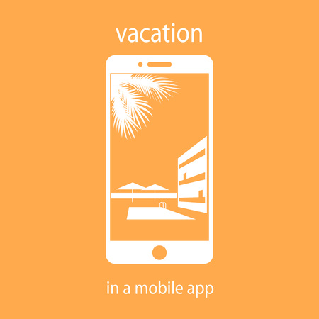 vacation in the mobile application. hotel selection