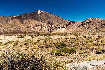 Landscape picture of the pico de teide volcano