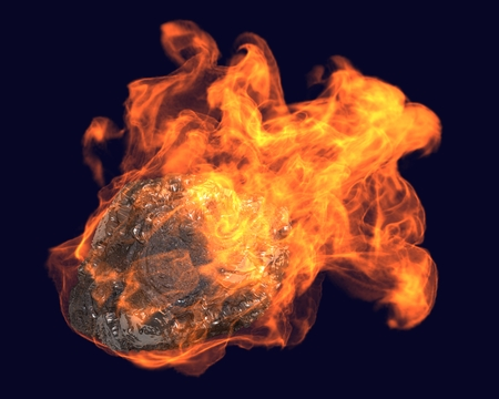 heaviness: asteroid flies Stock Photo