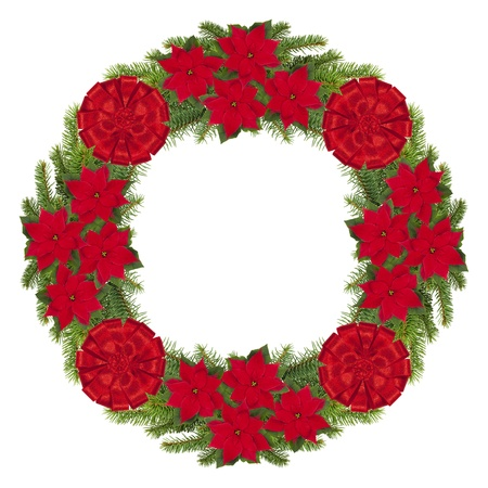 Christmas wreath isolated on white. photo