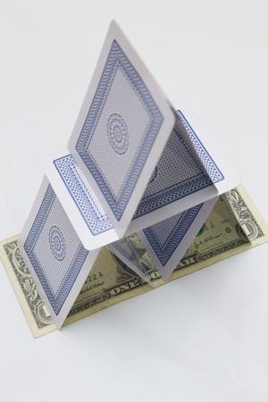 volatility: Pila de tarjetas basado en un proyecto de ley de US $1 listo para dar vueltas