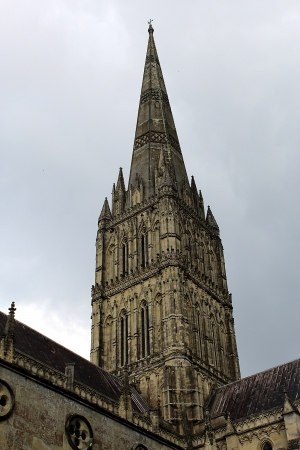 spire: Salisbury Cathedral spire  Stock Photo