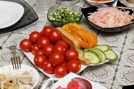 vitamines: Vitamines salad on the table Stock Photo