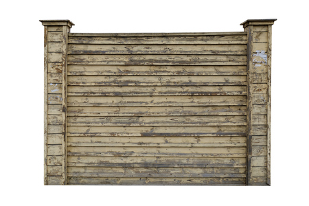 fence: Frame of an old wooden fence isolated on white Stock Photo