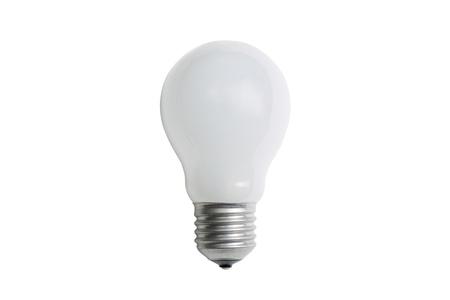 matt: Incandescent matt white light bulb E14  isolated on white background