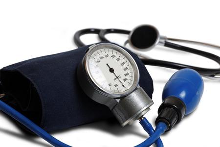 혈압 측정을위한 의료 기기 - 전문 혈압 키트 화이트 절연 압력 팔목. 얕은 포커스. 스톡 콘텐츠 - 54872122