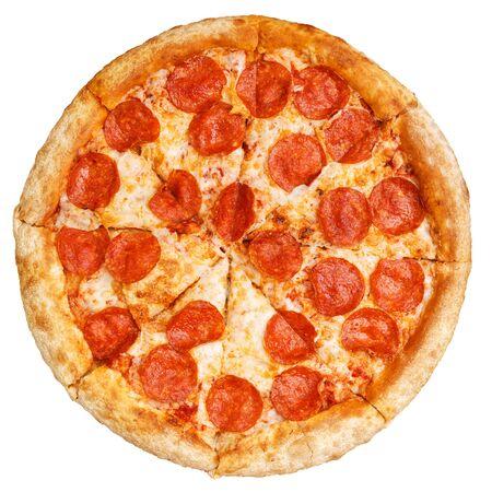 Tasty italian classic original pepperoni pizza. 写真素材