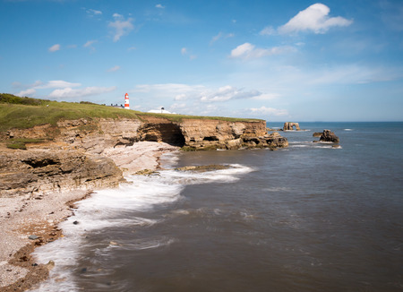 yorkshire and humber: Lighthouse on the Yorkshire coastline