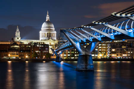 london skyline: St Pauls, Millenium Bridge Stock Photo