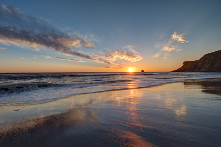 north yorkshire: Sunrise over Saltwick Bay, Whitby, North Yorkshire