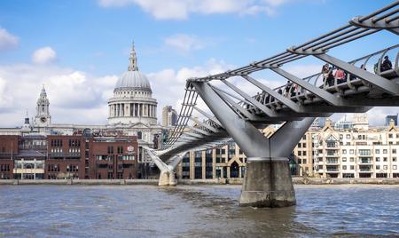 millennium: St Pauls Cathedral and the Millennium Bridge, London
