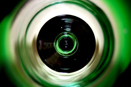 Green Tinted Circular Abstract Stock Photo