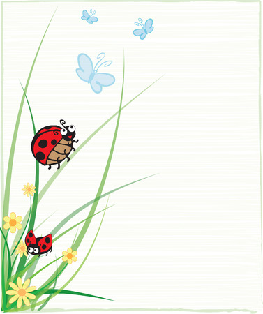 A Ladybug on a Stem Illustration