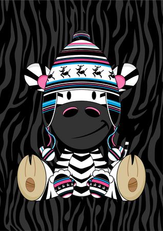 wooly: Cute Cartoon Wooly Hat Zebra