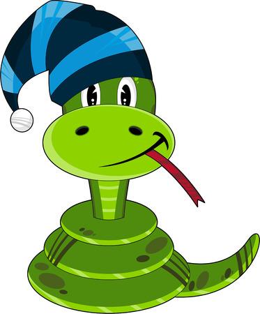 Cute Cartoon Wooly Hat Snake