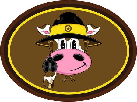 sheriffs: Cute Cartoon Wild West Cow Cowboy Sheriff