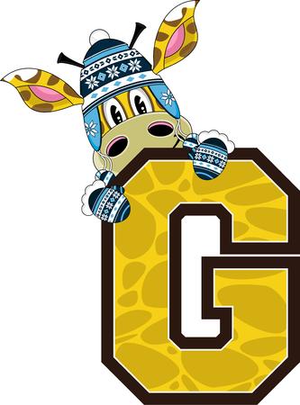 g giraffe: G is for Giraffe Alphabet Learning Illustration