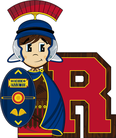 tunic: R is for Roman Alphabet Learning Illustration
